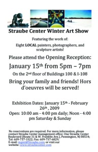 Straube Center Winter Art Show Flyer