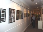 One of my walls at the Straube Center Art Show