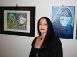 Me & my artwork at the Straube Center Art Show