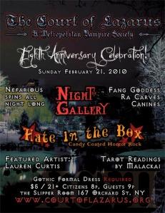 NYC Gothic Art & Music Event, Feb. 2010