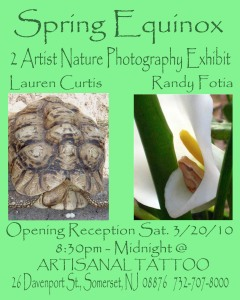 Spring Equinox 2 Artist Photo Show @ Artisanal Tattoo Gallery
