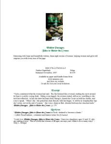 Info. about Vila Spiderhawk's novels