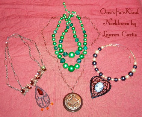 New 1-of-a-kind necklaces by Lauren Curtis