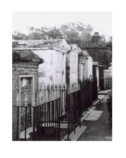 NOLA Cemetery Path (c)2010 Lauren Curtis