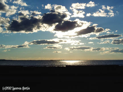 Sandy Hook, NJ Sea-Sunset photo (c)Sept2012 Lauren Curtis