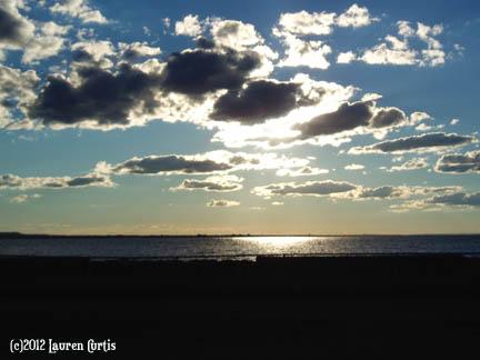 Sandy Hook, NJ Sea-Sunset photo (c)Sept2012 Lauren Curtis