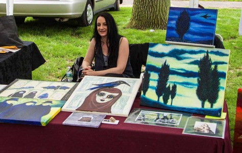 Me at my booth, E.Bruns Fest 2013