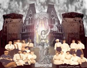 """Necropolis"", digital photo collage (c)Lauren Curtis"