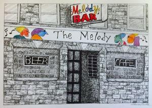Melody Bar Art (c)2015 Lauren Curtis