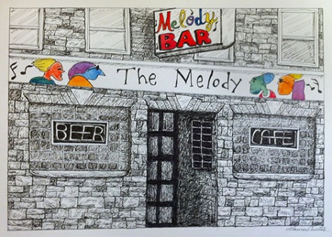 Melody Bar Art (c)2015 Lauren Curtis